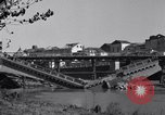 Image of destroyed bridge Capua Italy, 1943, second 9 stock footage video 65675024688