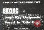 Image of Sugar Ray Robinson Jersey France, 1950, second 6 stock footage video 65675024699