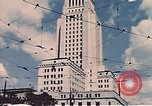 Image of landmarks Los Angeles California USA, 1950, second 8 stock footage video 65675024738