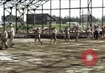 Image of steel shell of hangar Japan, 1945, second 3 stock footage video 65675024855