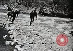 Image of long boats navigate rapids Japan, 1898, second 8 stock footage video 65675024930