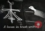 Image of Learning Japanese characters Japan, 1945, second 2 stock footage video 65675025077