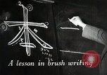 Image of Learning Japanese characters Japan, 1945, second 3 stock footage video 65675025077