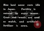 Image of Rice Field Fertilization Japan, 1934, second 6 stock footage video 65675025114