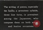 Image of Poet Composing Haiku Poem Japan, 1935, second 1 stock footage video 65675025125