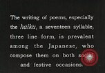 Image of Poet Composing Haiku Poem Japan, 1935, second 2 stock footage video 65675025125