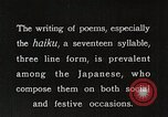 Image of Poet Composing Haiku Poem Japan, 1935, second 3 stock footage video 65675025125