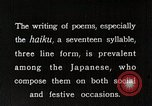 Image of Poet Composing Haiku Poem Japan, 1935, second 5 stock footage video 65675025125