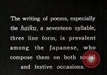 Image of Poet Composing Haiku Poem Japan, 1935, second 6 stock footage video 65675025125