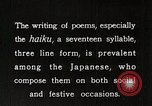 Image of Poet Composing Haiku Poem Japan, 1935, second 9 stock footage video 65675025125