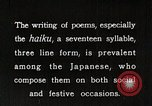 Image of Poet Composing Haiku Poem Japan, 1935, second 11 stock footage video 65675025125