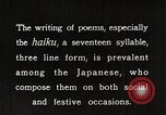 Image of Poet Composing Haiku Poem Japan, 1935, second 12 stock footage video 65675025125