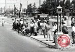 Image of Japanese people wait for street car Tokyo Japan Shiba District, 1945, second 1 stock footage video 65675025163