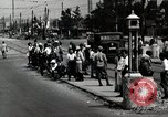 Image of Japanese people wait for street car Tokyo Japan Shiba District, 1945, second 2 stock footage video 65675025163