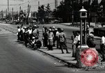 Image of Japanese people wait for street car Tokyo Japan Shiba District, 1945, second 5 stock footage video 65675025163