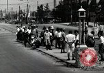 Image of Japanese people wait for street car Tokyo Japan Shiba District, 1945, second 8 stock footage video 65675025163