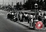 Image of Japanese people wait for street car Tokyo Japan Shiba District, 1945, second 9 stock footage video 65675025163