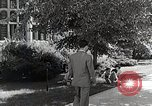 Image of Japanese student habituates himself to university life Bloomington Indiana USA, 1951, second 9 stock footage video 65675025242