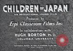 Image of children of Japan Japan, 1940, second 9 stock footage video 65675025252