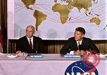 Image of Walter Schirra at NASA press conference Houston Texas USA, 1962, second 5 stock footage video 65675025290