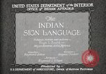 Image of Native American Indian council meeting using sign language Fort Browning Montana USA, 1930, second 6 stock footage video 65675025291