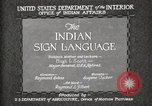 Image of Native American Indian council meeting using sign language Fort Browning Montana USA, 1930, second 7 stock footage video 65675025291