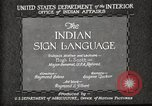 Image of Native American Indian council meeting using sign language Fort Browning Montana USA, 1930, second 9 stock footage video 65675025291
