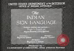Image of Native American Indian council meeting using sign language Fort Browning Montana USA, 1930, second 10 stock footage video 65675025291