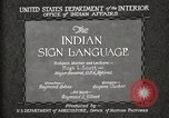 Image of Native American Indian council meeting using sign language Fort Browning Montana USA, 1930, second 11 stock footage video 65675025291