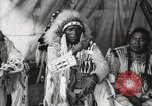 Image of Native American Indian Chief Aims Back introduces himself Fort Browning Montana USA, 1930, second 7 stock footage video 65675025292