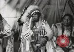 Image of Native American Indian Chief Aims Back introduces himself Fort Browning Montana USA, 1930, second 9 stock footage video 65675025292