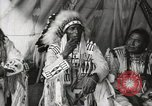 Image of Native American Indian Chief Aims Back introduces himself Fort Browning Montana USA, 1930, second 10 stock footage video 65675025292