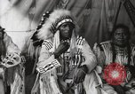 Image of Native American Indian Chief Aims Back introduces himself Fort Browning Montana USA, 1930, second 11 stock footage video 65675025292