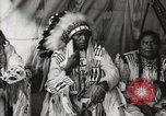 Image of Native American Indian Chief Aims Back introduces himself Fort Browning Montana USA, 1930, second 12 stock footage video 65675025292