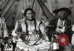 Image of Native American Indian Chief Short Face Introduces himself Fort Browning Montana USA, 1930, second 12 stock footage video 65675025293