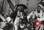 Image of Native American Indian Chief Bitterroot JIm introduces himself Fort Browning Montana USA, 1930, second 7 stock footage video 65675025294