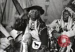 Image of Native American Indian Chief Bitterroot JIm introduces himself Fort Browning Montana USA, 1930, second 10 stock footage video 65675025294