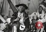 Image of Native American Indian Chief Bitterroot JIm introduces himself Fort Browning Montana USA, 1930, second 11 stock footage video 65675025294