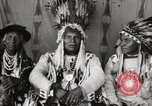 Image of Native American Indian Chief Night Shoots introduces himself Fort Browning Montana USA, 1930, second 7 stock footage video 65675025295