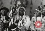 Image of Native American Indian Chief Night Shoots introduces himself Fort Browning Montana USA, 1930, second 8 stock footage video 65675025295