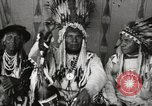 Image of Native American Indian Chief Night Shoots introduces himself Fort Browning Montana USA, 1930, second 9 stock footage video 65675025295