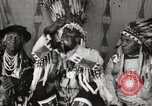 Image of Native American Indian Chief Night Shoots introduces himself Fort Browning Montana USA, 1930, second 11 stock footage video 65675025295