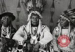 Image of Native American Indian Chief Night Shoots introduces himself Fort Browning Montana USA, 1930, second 12 stock footage video 65675025295