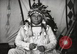 Image of Native American Indian Chief Drags Wolf introduces himself Fort Browning Montana USA, 1930, second 10 stock footage video 65675025296