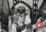 Image of Native American Indian Chief Iron Whip introduces himself Fort Browning Montana USA, 1930, second 6 stock footage video 65675025297
