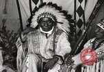 Image of Native American Indian Chief Iron Whip introduces himself Fort Browning Montana USA, 1930, second 8 stock footage video 65675025297