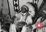 Image of Native American Indian Chief Iron Whip introduces himself Fort Browning Montana USA, 1930, second 9 stock footage video 65675025297