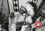 Image of Native American Indian Chief Iron Whip introduces himself Fort Browning Montana USA, 1930, second 10 stock footage video 65675025297