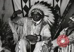 Image of Native American Indian Chief Iron Whip introduces himself Fort Browning Montana USA, 1930, second 11 stock footage video 65675025297