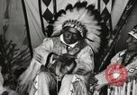 Image of Native American Indian Chief Iron Whip introduces himself Fort Browning Montana USA, 1930, second 12 stock footage video 65675025297